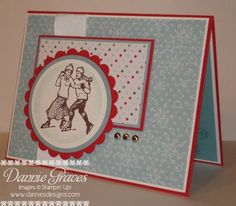 christmas card, SU winter post