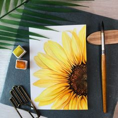 Easy Canvas Art, Small Canvas Art, Mini Canvas Art, Easy Art, Small Art, Canvas Ideas, Sunflower Canvas Paintings, Cute Canvas Paintings, Paintings Of Sunflowers