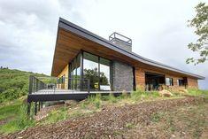südliche seite modernes traumhaus zedernholz fassade #traumhäuser #facade #dreamhouse