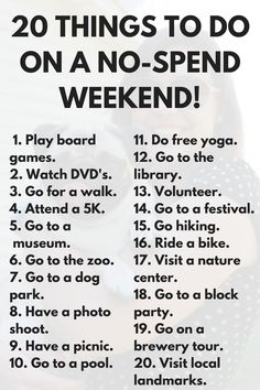 20 free things to do this weekend via frugal millennial dating couples things Things To Do When Bored, Free Things To Do, Things To Do Inside, Cheap Things, Fun Things, Cute Date Ideas, Date Ideas For New Couples, To Do This Weekend, Girls Weekend
