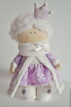Купить Интерьерная кукла Зимняя - зима, Новый Год, кукла, ручная работа, снежная королева