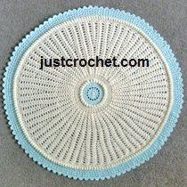 Free baby crochet pattern round blanket usa