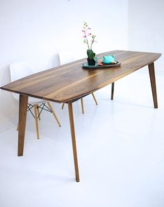 Dining Table Walnut Dining Table Modern Walnut by moderncre8ve