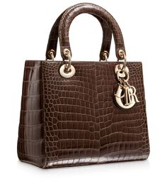 Brown Croc Lady DIOR bag ....  YUMMY !!!!!!!!!!!!