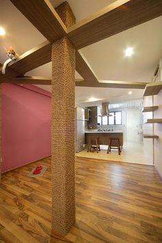 Cat Room with great sisal post! #catwalks #CatScratch #CatShelves #cat #design #home