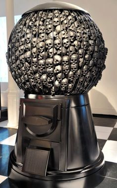 skull dispenser. Zippertravel.com This is a great idea. How cool would this be filled with sugar skulls.