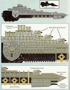 Warhammer Paint, Warhammer 40k Art, Warhammer Fantasy, Alien Spaceship, Spaceship Concept, Squat, Battle Fleet, Battlefleet Gothic, Sci Fi Spaceships