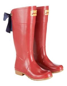 Super cute rain boots. I love anything with bows on it.