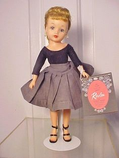 "Vintage 1950s LITTLE MISS REVLON 10 1/2"" VT-10 with Costume #IDEAL"