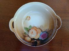 Hand Painted Noritake bowl vintage bowl bowl with handles