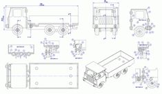 Sheet-metal lorry model - Assembly drawing