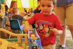 Day Out video!  Have a look as this little engineer spends a Day Out with Thomas at the Midland Railway in Baldwin City, Kansas. http://www.thomastrainrides.com/fun-and-games.html#06may15
