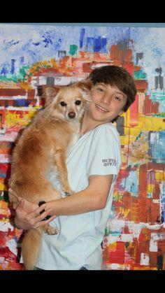 Jake short and his dog