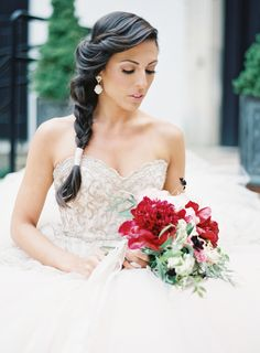 Don't you just love this princess Jasmine style? #hairstyles, #braids Photography: Caroline Frost Photography - www.carolinefrostphotography.com Planning, Floral Design & Concept: Cheeky Details - www.cheekydetails.com Read More: http://www.stylemepretty.com/2014/12/24/nutcracker-inspired-wedding-shoot/