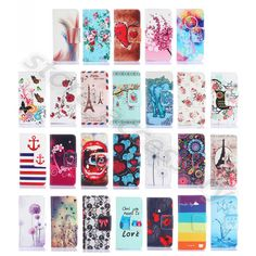 For Samsung Phone Classical Morden Leather Stand Card Cash Purse Flip Case Cover