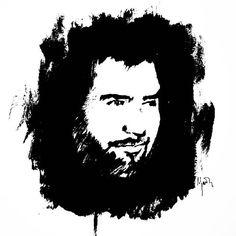 Hep sonradan gelir aklım başıma.  #ahmetkaya #sketch #acrylic #hepsonradan