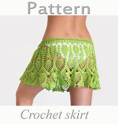 PATTERN Crochet beach skirt lace cover up #handmade #crochet #pattern #skirt #crochet_skirt #etsy #cover_up #boho #beach #summer