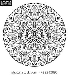 Find Flower Mandala Vintage Decorative Elements Oriental stock images in HD and millions of other royalty-free stock photos, illustrations and vectors in the Shutterstock collection. Thousands of new, high-quality pictures added every day. Pattern Coloring Pages, Mandala Coloring Pages, Coloring Book Pages, Mandala Art Lesson, Mandala Drawing, Mandala Pattern, Dot Painting, Vector Pattern, Illustration