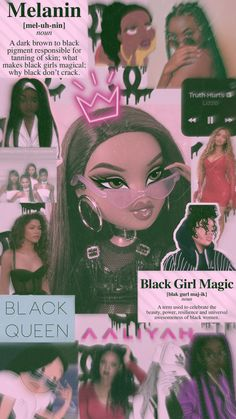 Mood Wallpaper, Iphone Wallpaper Tumblr Aesthetic, Black Aesthetic Wallpaper, Iphone Background Wallpaper, Aesthetic Wallpapers, Pink Tumblr Aesthetic, Black Girl Aesthetic, Black Love Art, Black Girl Art