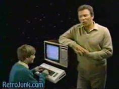 Shatner/Kirk selling Commodore VIC-20 in 1987. It was rebranded VC 20 for the German market and dubbed Volkscomputer