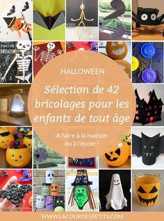 Pour occuper les enfants pendant les vacances ou même à l'école, retrouvez ma sélection de 42 bricolages d'Halloween, de 0 à 10 ans (et plus !)