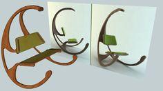 Grote voorbeeldweergave van het 3D-model van CADEIRA DE BALANÇO 2.0 schommelstoel sketchup buiten