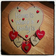 Just simply lovely.... The Fairies Workshop family plaque £8.99... www.thefairiesworkshop.co.uk..