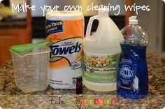 I need to try this. Clorox wipes are expensive - but make it easier for kids to clean up themselves.
