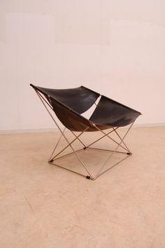 'Butterflies' chairs designed by Pierre Paulin 1963