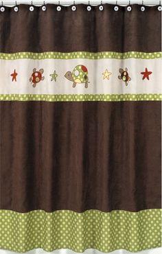 Sweet Jojo Designs Turtle Shower Curtain #tinytotties