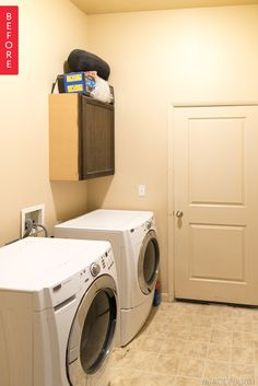Before & After: A Pretty (And Practical!) Laundry Room Upgrade — Vintage Revivals | Apartment Therapy