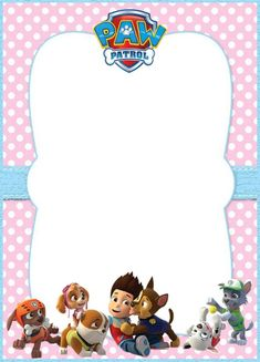 Editable Paw Patrol Invitation Card - 5 Unique Paw Patrol Templates for Girls Paw Patrol Invitations, Ladybug Invitations, Hello Kitty Invitations, Mickey Mouse Birthday Invitations, Invitation Cards, Invitation Templates, Paw Patrol Birthday Theme, Girl Paw Patrol Party, Sibling Birthday Parties