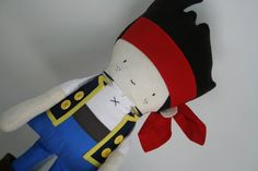 Jake The Neverland Pirate Pirate Rag Doll Fabric by OhSewCuteByMel, $110.00