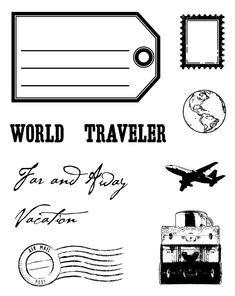 World Traveler Clear Stamp Set  SKU# 02238
