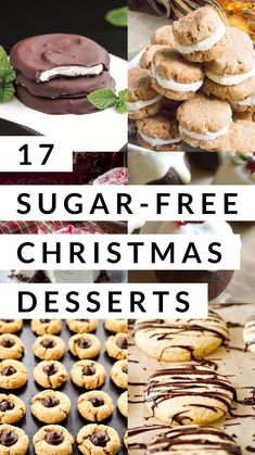 17 Sugar-Free Christmas Desserts - Captain DecorYou can find Diabetic desserts and more on our Sugar-Free Christmas Desserts - Captain Decor Sugar Free Cookie Recipes, Sugar Free Deserts, Sugar Free Baking, Sugar Free Treats, Sugar Free Cookies, Diabetic Cookie Recipes, Sugar Free Christmas Baking, Diabetic Snacks, Sugar Free Foods