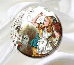 Pocket Mirror Alice in Wonderland Flying Cards MR221
