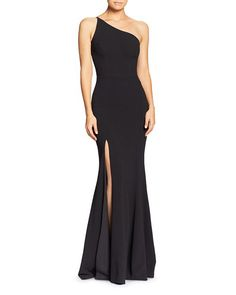 Dress the Population Amy One-Shoulder Gown Women - Dresses - Evening & Formal Gowns - Bloomingdale's Simple Dresses, Casual Dresses, Fashion Dresses, Pretty Dresses, Fashion Wear, Black Bridesmaid Dresses, Prom Dresses, Bridesmaids, Bridesmaid Ideas