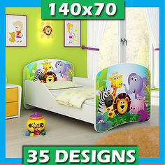 Toddler #children kids bed + free #mattress  free #delivery 140x70,  View more on the LINK: http://www.zeppy.io/product/gb/2/291370831016/