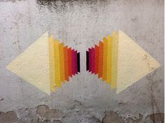 Italy-based artist, E1000 adds colorful patterns and life to mundane, everyday locations.