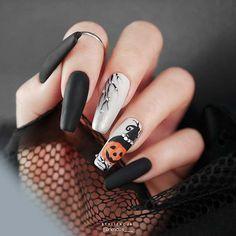 Halloween Acrylic Nails, Cute Halloween Nails, Fall Acrylic Nails, Halloween Nail Designs, Acrylic Nail Designs, Nail Art Designs, Halloween Spider, Creepy Halloween, Halloween Recipe