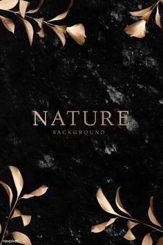 Copper eucalyptus leaves on black marble background vector Black Marble Background, Turquoise Background, Gold Background, Geometric Background, Watercolor Background, Textured Background, Backdrop Background, Stone Texture, Marble Texture