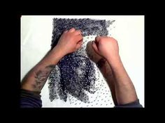Art with Nails and Thread [Kunst mit Nagel und Faden] single thread and 600 nails [speed art] - https://www.youtube.com/watch?v=LB6XjvGKFng