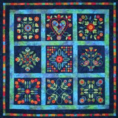Midnight Roses Rose of Sharon Quilt. - Sharon Pederson and Nine Patch Media, with permission. (http://www.ninepatchmedia.com/temp/html/embroidery.html)