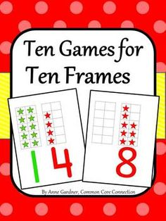 Ten Games/Activities for Ten Frames - This is a collection of my favorite ten frame games. Once kids learn to play each of these games, they keep asking to play again and again! Math Strategies, Math Resources, Math Activities, Math Games, Math Classroom, Kindergarten Math, Teaching Math, Teaching Ideas, Daily 5 Math