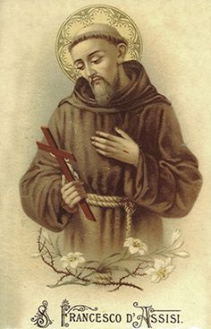 Francis of Assisi Antique Vintage French Holy Prayer Card, Catholic Gift, Devotional Card, Ephemera Religious Pictures, Religious Art, St Francisco, Clare Of Assisi, Patron Saint Of Animals, St Clare's, Vintage Holy Cards, Francis Of Assisi, Catholic Gifts