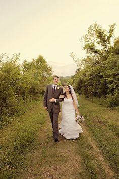 Sweet couple exploring our historic farm #cedarwoodweddings Romantic Country Farm Wedding at Historic Cedarwood | Cedarwood Weddings