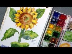 The Frugal Crafter Watercolor Tutorials on YouTube - How to Paint a Sunflower in Watercolor