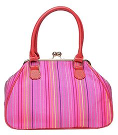 Generic Women's Casual Pink Leather Handbag Large -- You can get additional details at the image link.