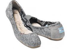 Toms Tweed Lurex Women's Ballet Flats.  Never really liked the Toms look, but these are adorable! Tweed and a great cause, can't best that! #toms #fall2013 #fashion