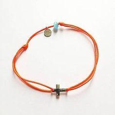 Bracelet fil Croix Argent